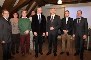 Der Beirat des Fördervereins mit 1. Vorsitzenden Heinrich Rudrof, MdL (4. von rechts) und Landrat Johann Kalb (3. von rechts) © Rudolf Mader